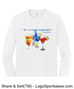 5 o'clock Somewhere T-shirt Design Zoom