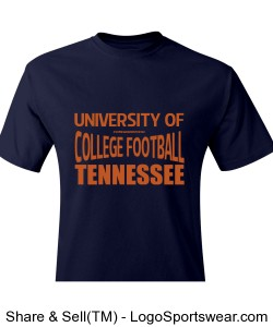 University of Football T Shirt Design Zoom